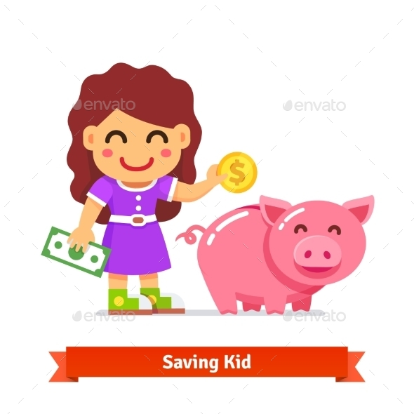 Children Finances and Savings Concept - Concepts Business