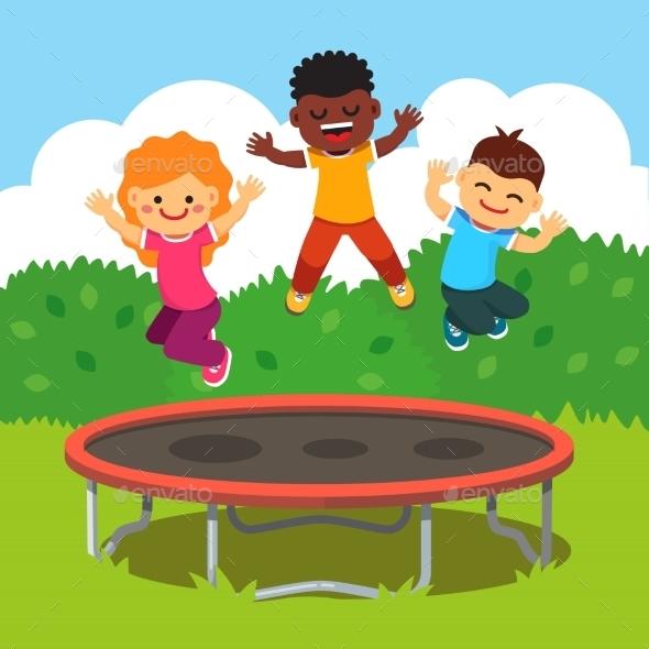 Children Having Fun - Sports/Activity Conceptual