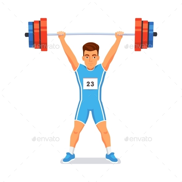 Strong Bodybuilder Sportsman - Sports/Activity Conceptual