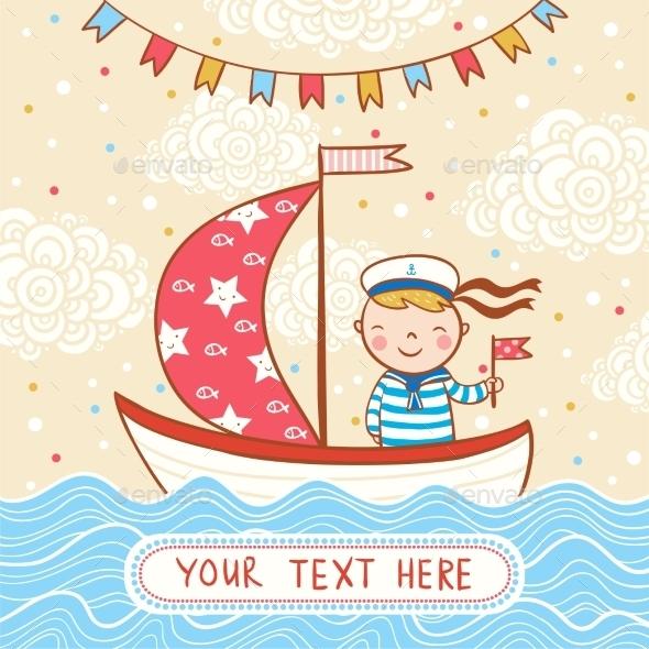 Happy Birthday Greeting Card with Boy - Birthdays Seasons/Holidays