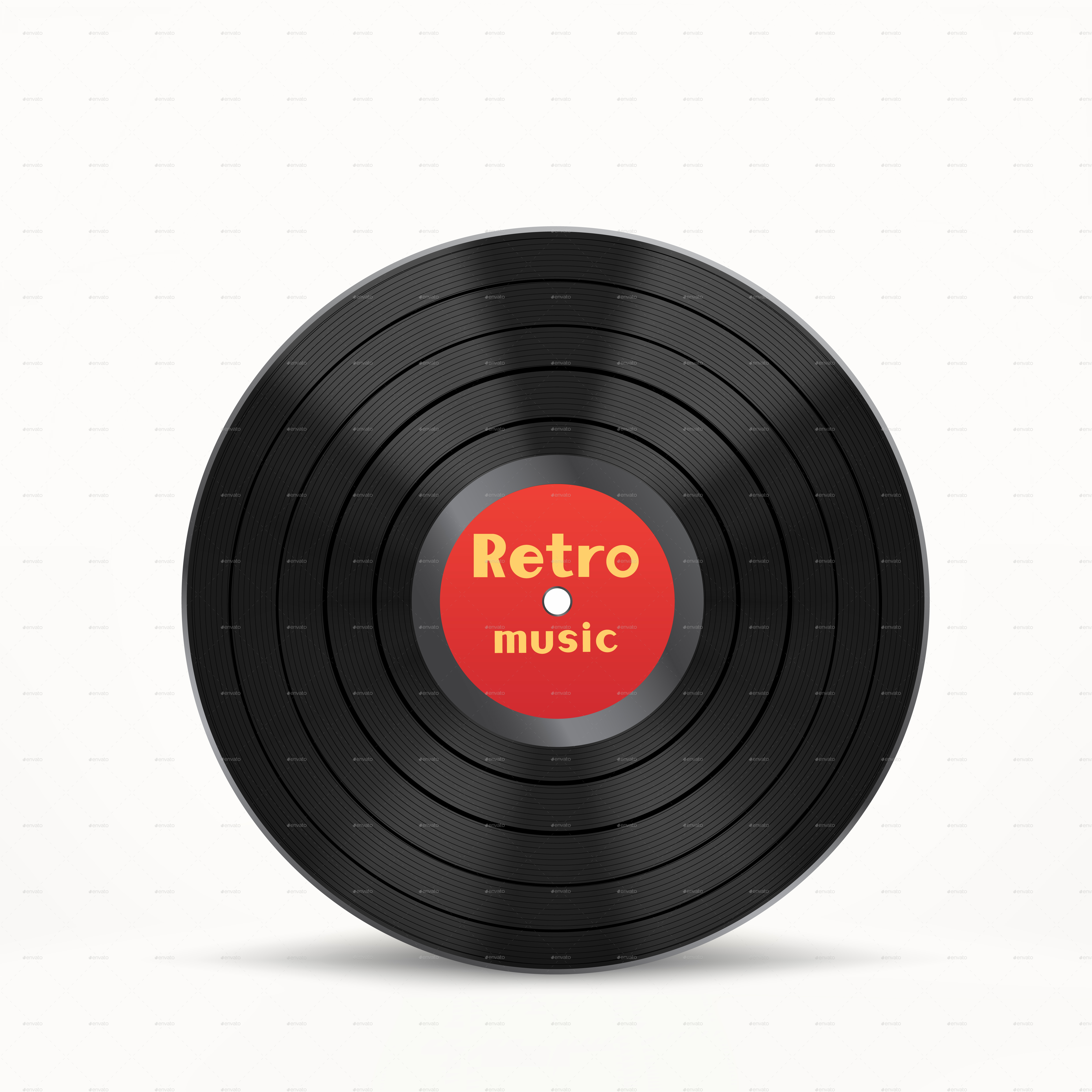 Vinyl Disc And Cover By Romvo Graphicriver