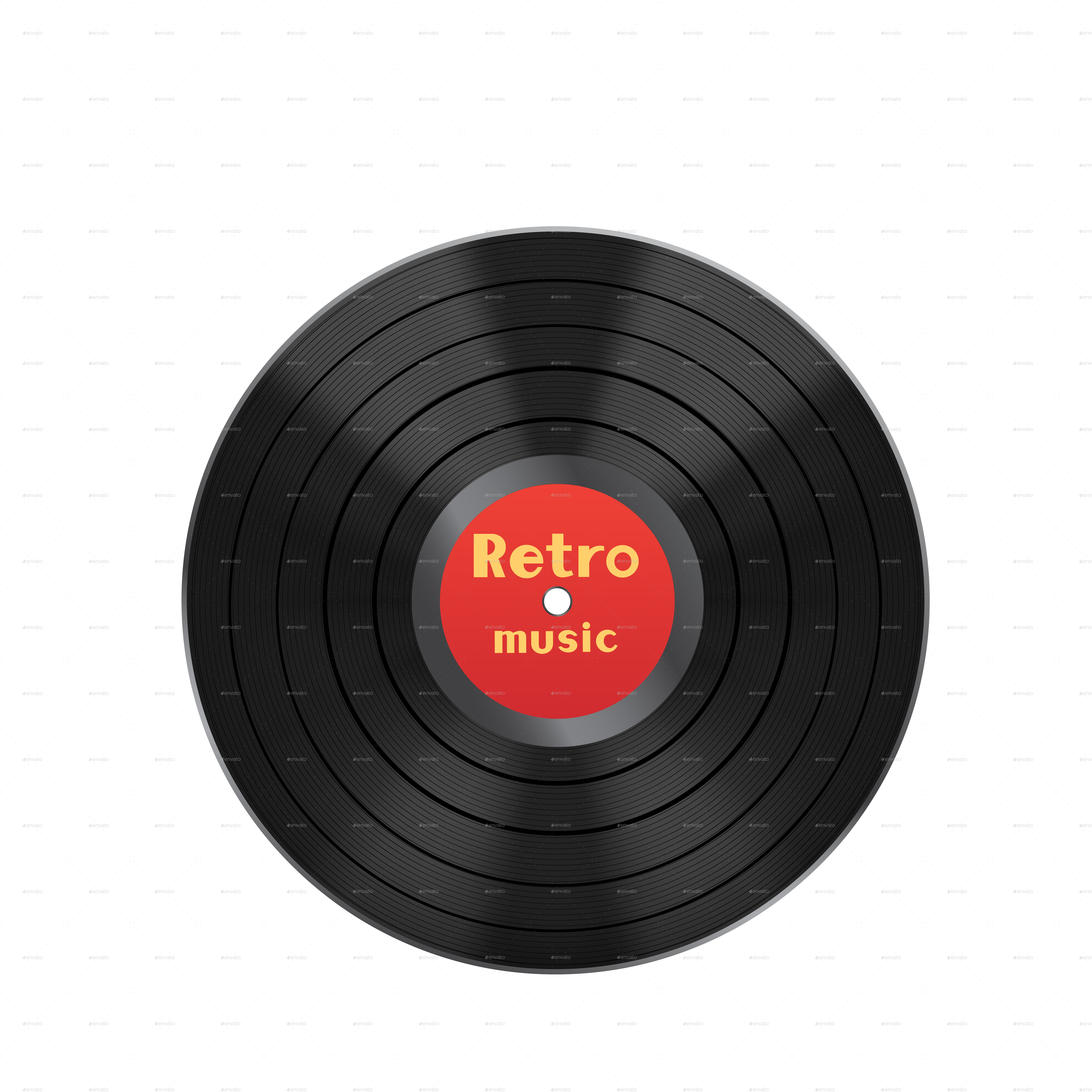 Vinyl Disc and Cover by romvo