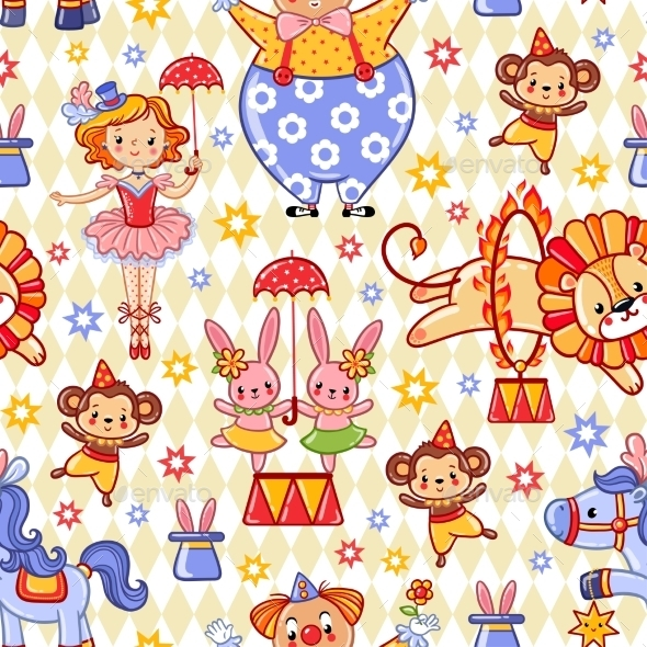 Circus Theme Pattern - Birthdays Seasons/Holidays