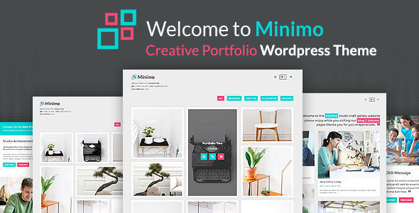 Minimo – Minimal Portfolio WordPress Theme
