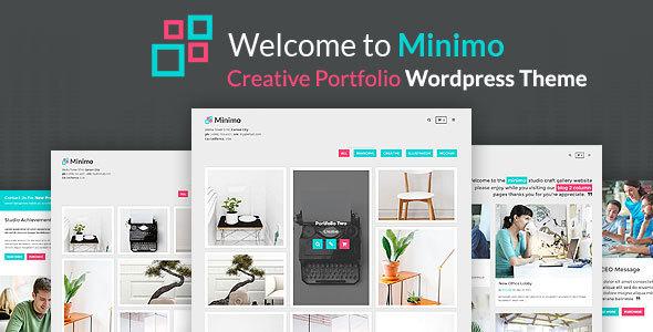 Minimo – Minimal Portfolio WordPress Theme
