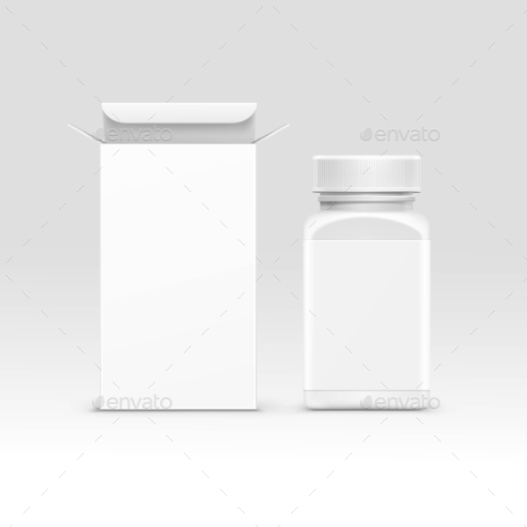Medical Packaging Box and Bottle - Miscellaneous Vectors
