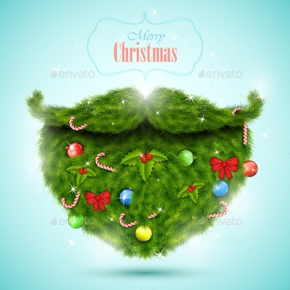 Christmas Greeting Card Vector Illustration - Christmas Seasons/Holidays