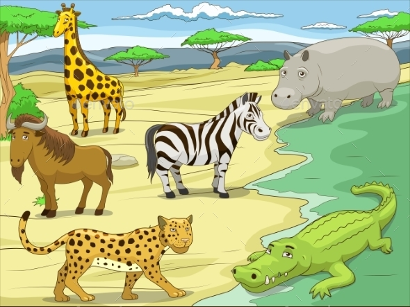 Educational Game  African Savannah Animals  - Landscapes Nature