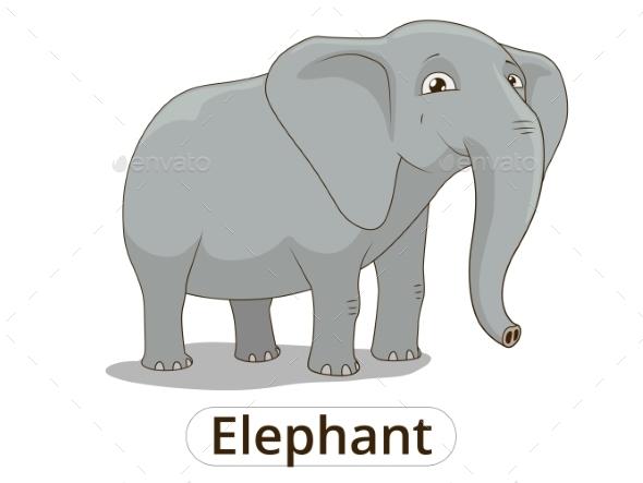 Elephant African Savannah Cartoon Illustration - Animals Characters