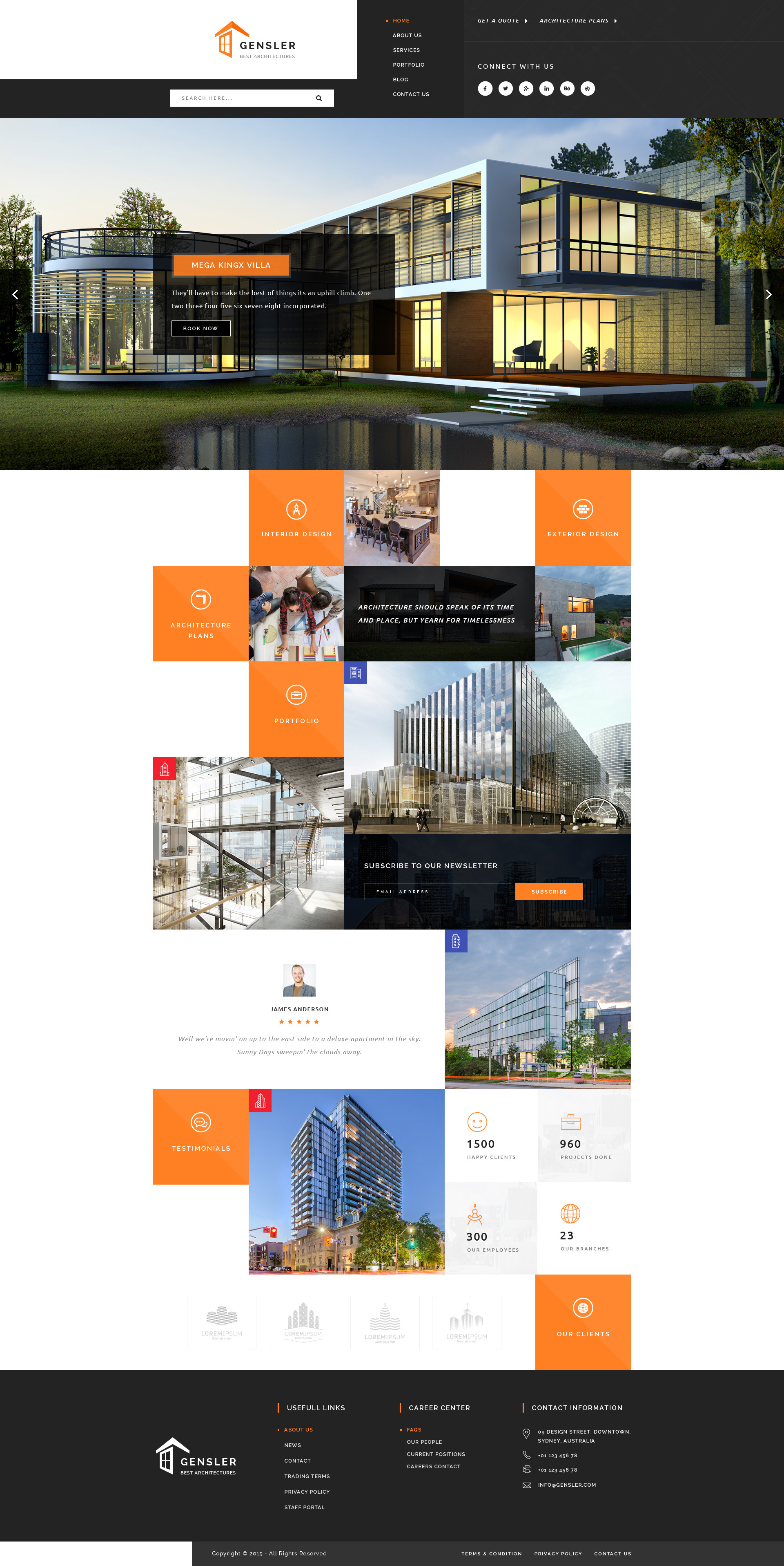Gensler : Architecture PSD Template by PremiumWebs | ThemeForest