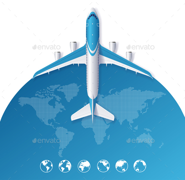 Airplane Travel Concept - Travel Conceptual