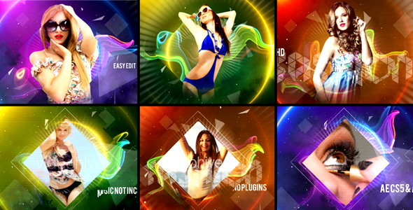 Videohive - After Effects Template -  Colorful Fashion Intro