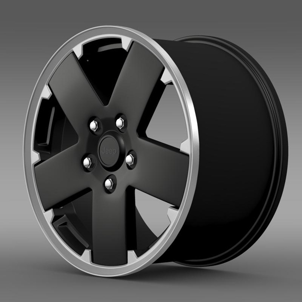 Jeep Wrangler black rim - 3DOcean Item for Sale