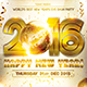New Year White Celebration Party Flyer - GraphicRiver Item for Sale
