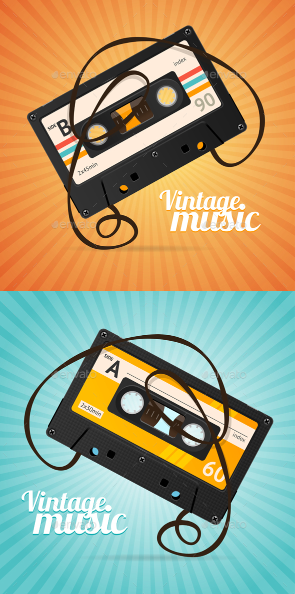 Vintage Music Background - Media Technology