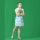 Little Schoolgirl Stans with Book on Green Screen - VideoHive Item for Sale