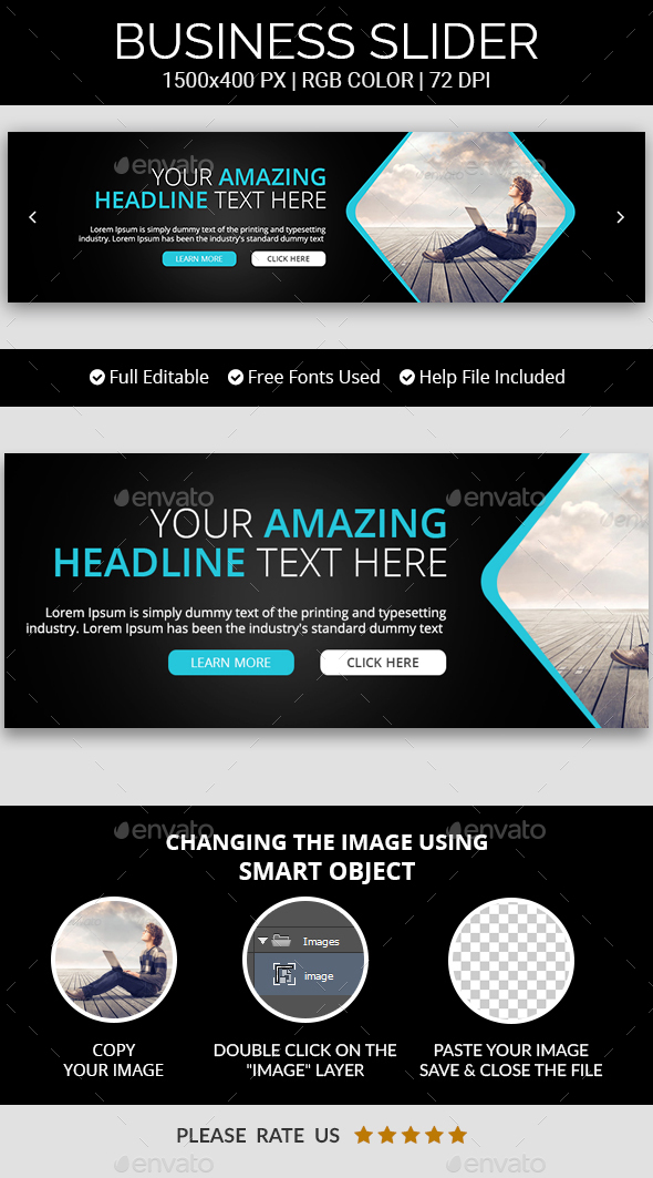 Business Sliders v20 - Sliders & Features Web Elements