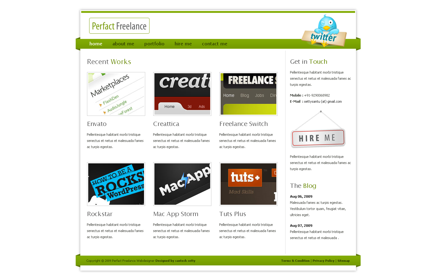 Free Download Perfact Freelacer Clean Elegant Html Template Nulled Latest Version