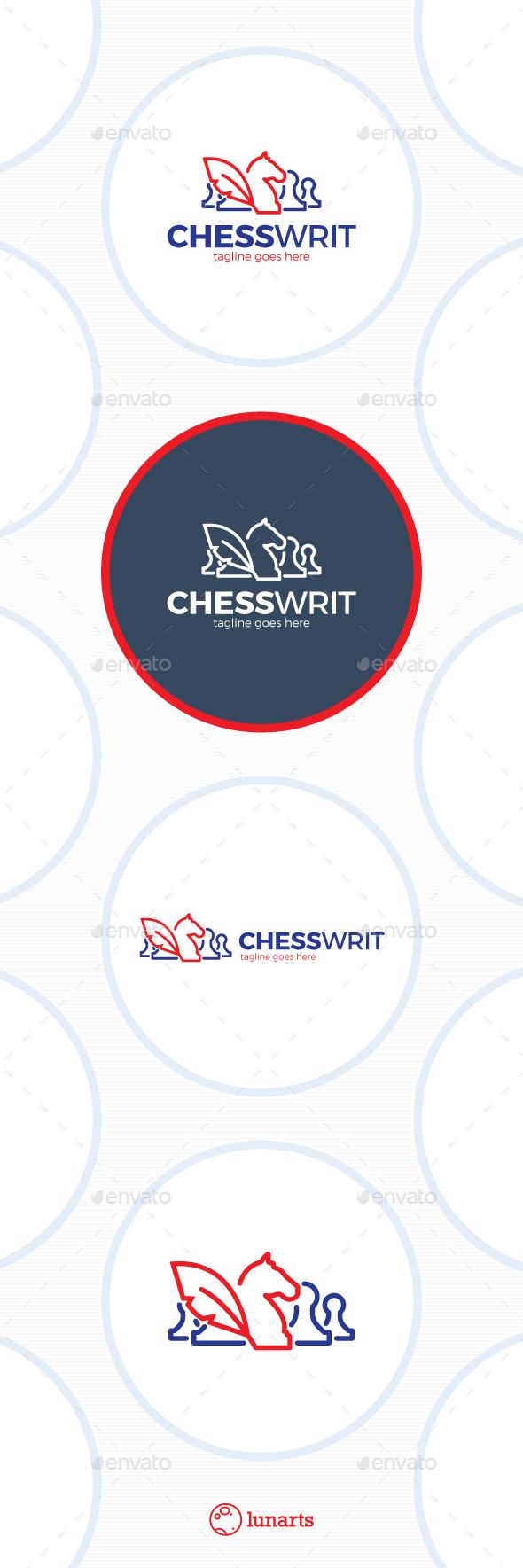 Chess Writer Logo - Feather Blog - Symbols Logo Templates