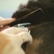 Barber Makes Hair Part With Clipper - VideoHive Item for Sale