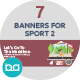 Flat Concept Banners for Sports 2 - GraphicRiver Item for Sale