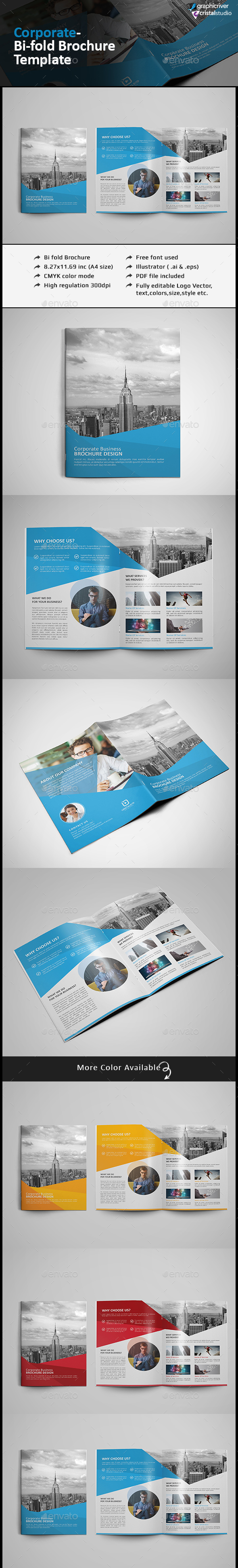 Bi Fold Brochure- Multipurpose - Corporate Brochures