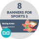 Flat Concept Banners for Sports 3 - GraphicRiver Item for Sale