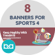 Flat Concept Banners for Sports 4 - GraphicRiver Item for Sale