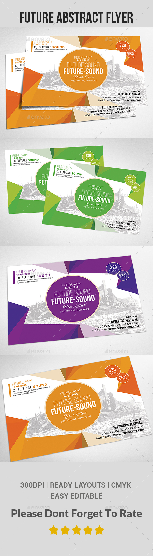 Future Abstract Flyer  - Clubs & Parties Events