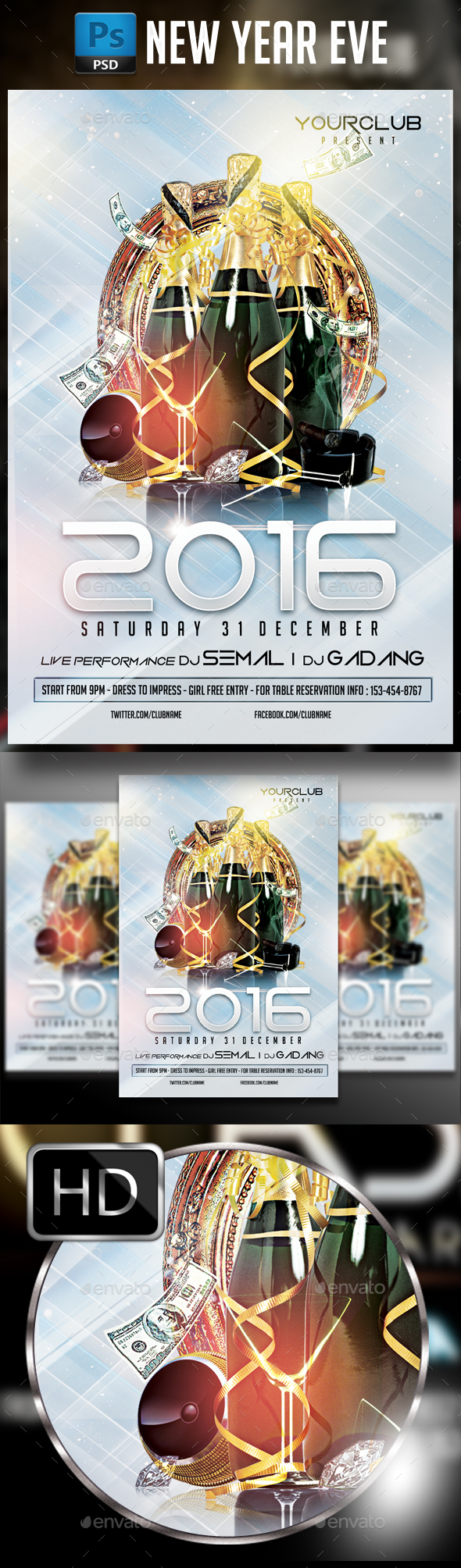 New Year Party #4 - Events Flyers