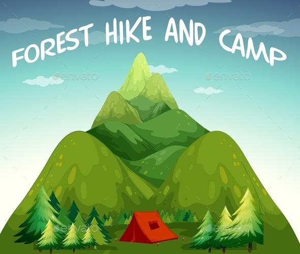 Hiking Campsite - Landscapes Nature
