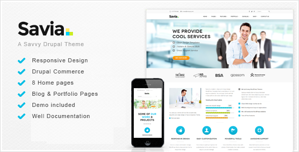 Savia – Responsive Multi-Purpose Drupal Theme