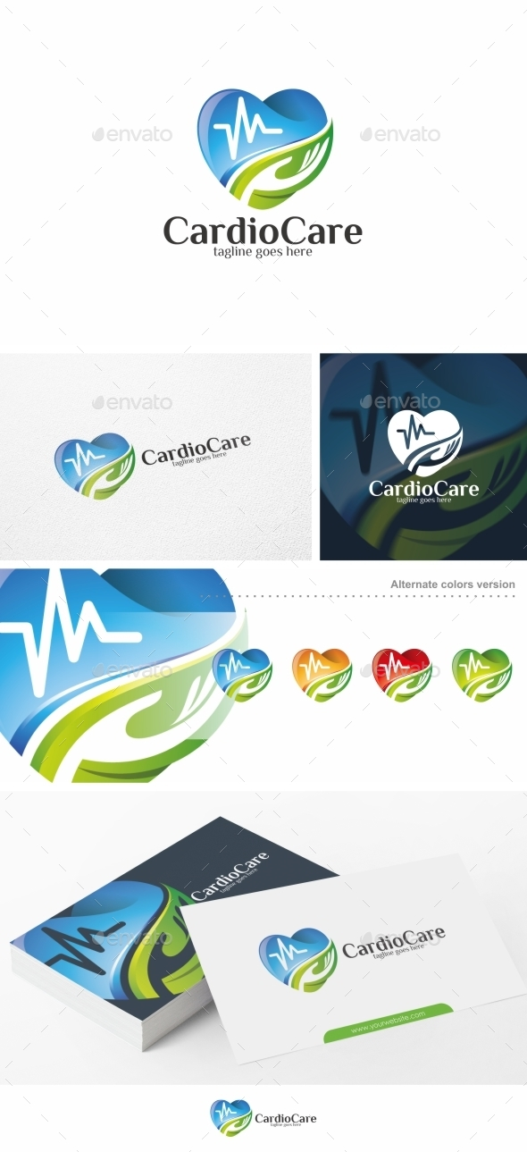 Cardio Care / Heart - Logo Template - Symbols Logo Templates