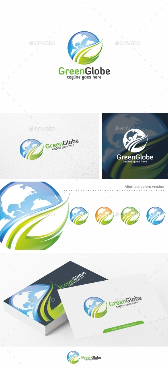 Green Globe - Logo Template - Objects Logo Templates