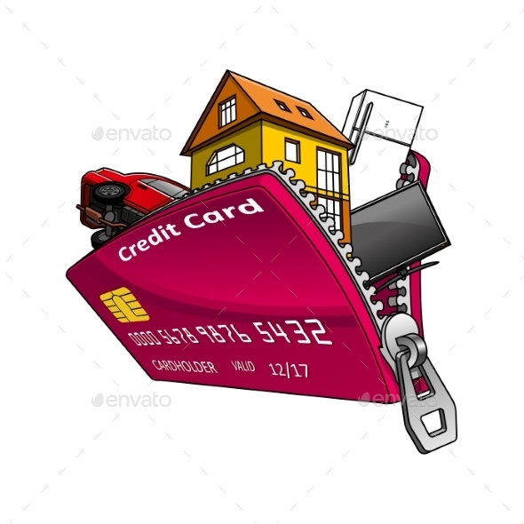 Goods Inside Credit Card With Zipper  - Concepts Business