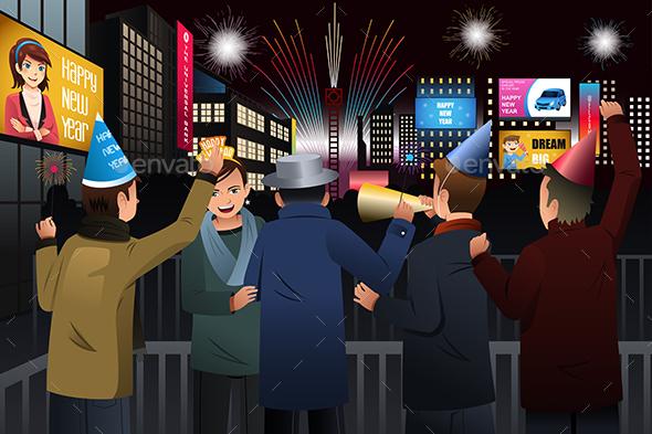 People Celebrating New Year - New Year Seasons/Holidays