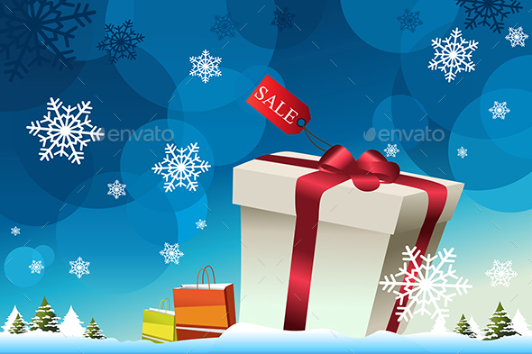 Winter Shopping Background - Christmas Seasons/Holidays
