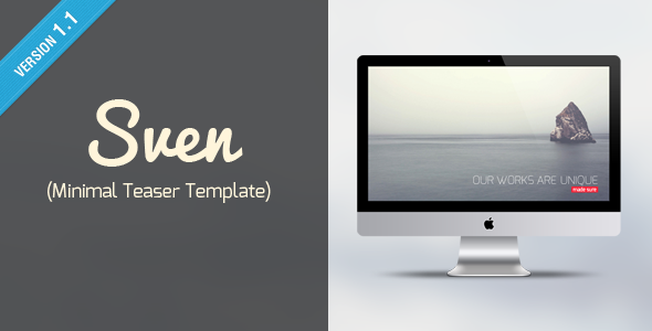 Sven – Minimal Teaser Template(Coming Soon)