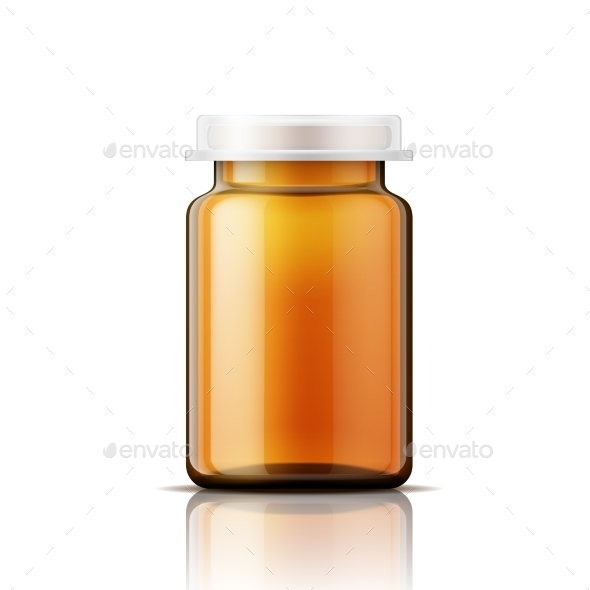 Glass Bottle For Pills. - Man-made Objects Objects