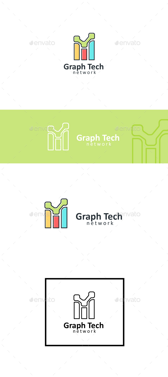 Technology Graph - Symbols Logo Templates