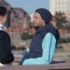 Man And Woman Talking Before Jogging - VideoHive Item for Sale