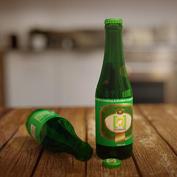 3D Bear Bottle - 3DOcean Item for Sale