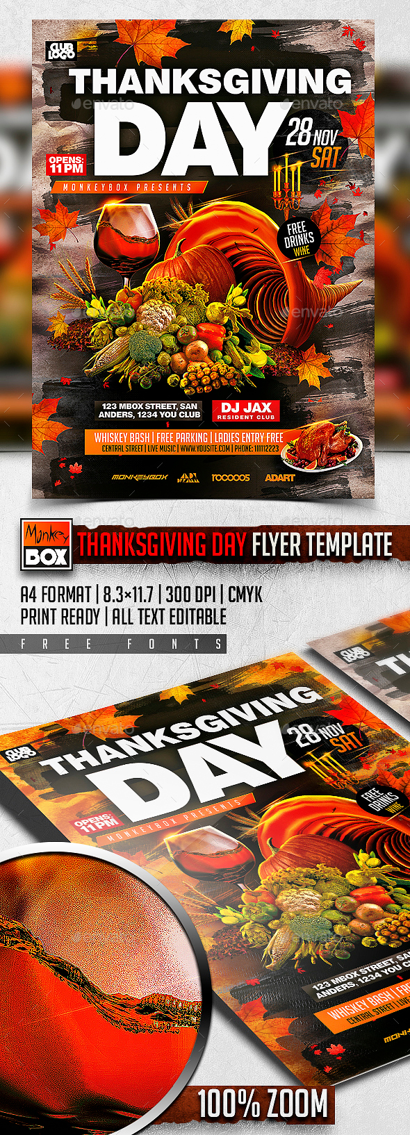 Thanksgiving Day Flyer Template - Events Flyers