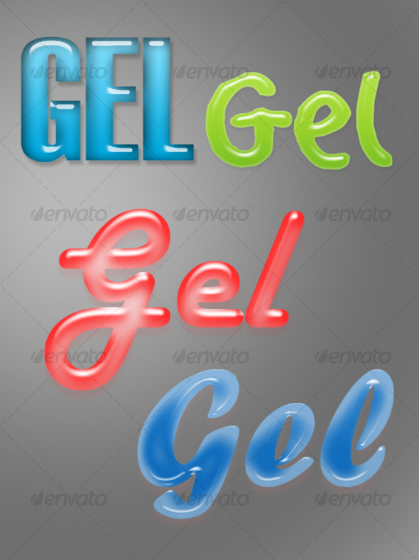 Gel Layer Styles for Adobe Photoshop - Photoshop Add-ons
