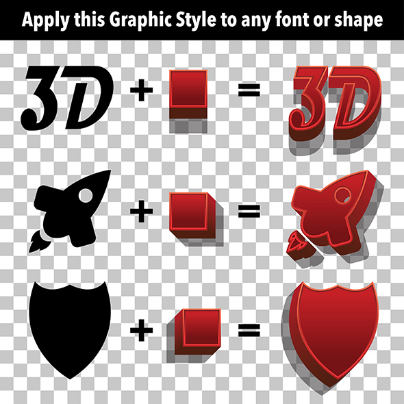 3D Graphic Styles - Styles Illustrator
