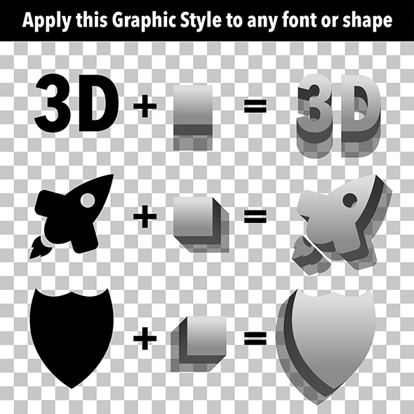 3D Extruder Graphic Style - Styles Illustrator