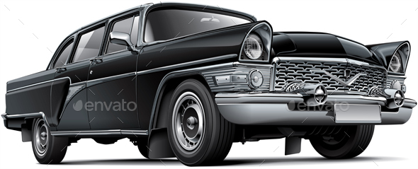 Soviet Luxury Car - Objects Vectors