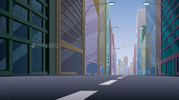 City Street - Buildings Objects