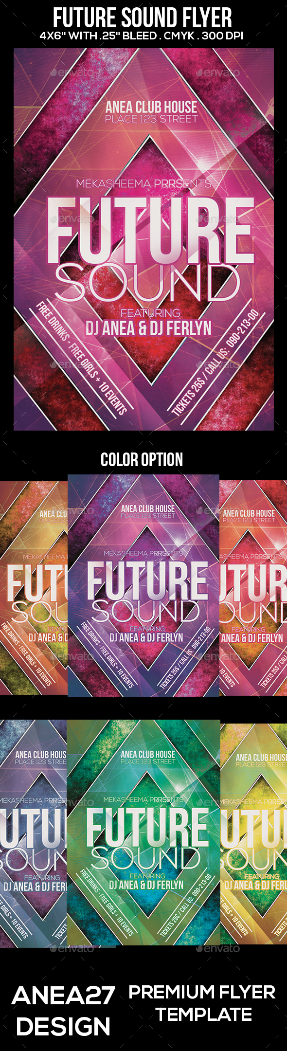 Future Sound Flyer - Clubs & Parties Events