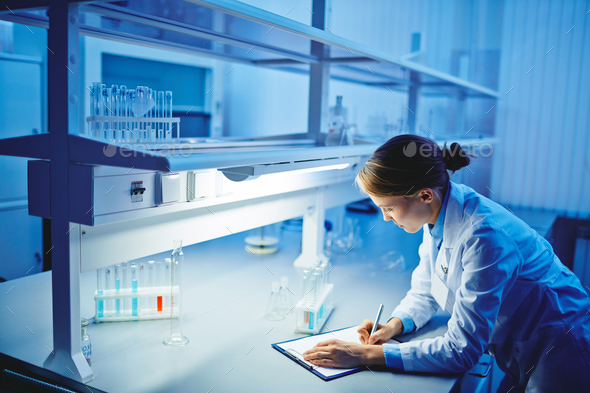 Assistant in lab - Stock Photo - Images